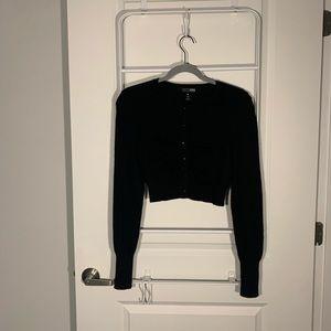 Aqua 100% Cashmere Black Cardigan Size Small